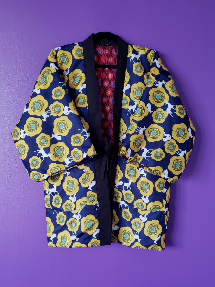 Image of Kumi Short Kimono Reversible Coat