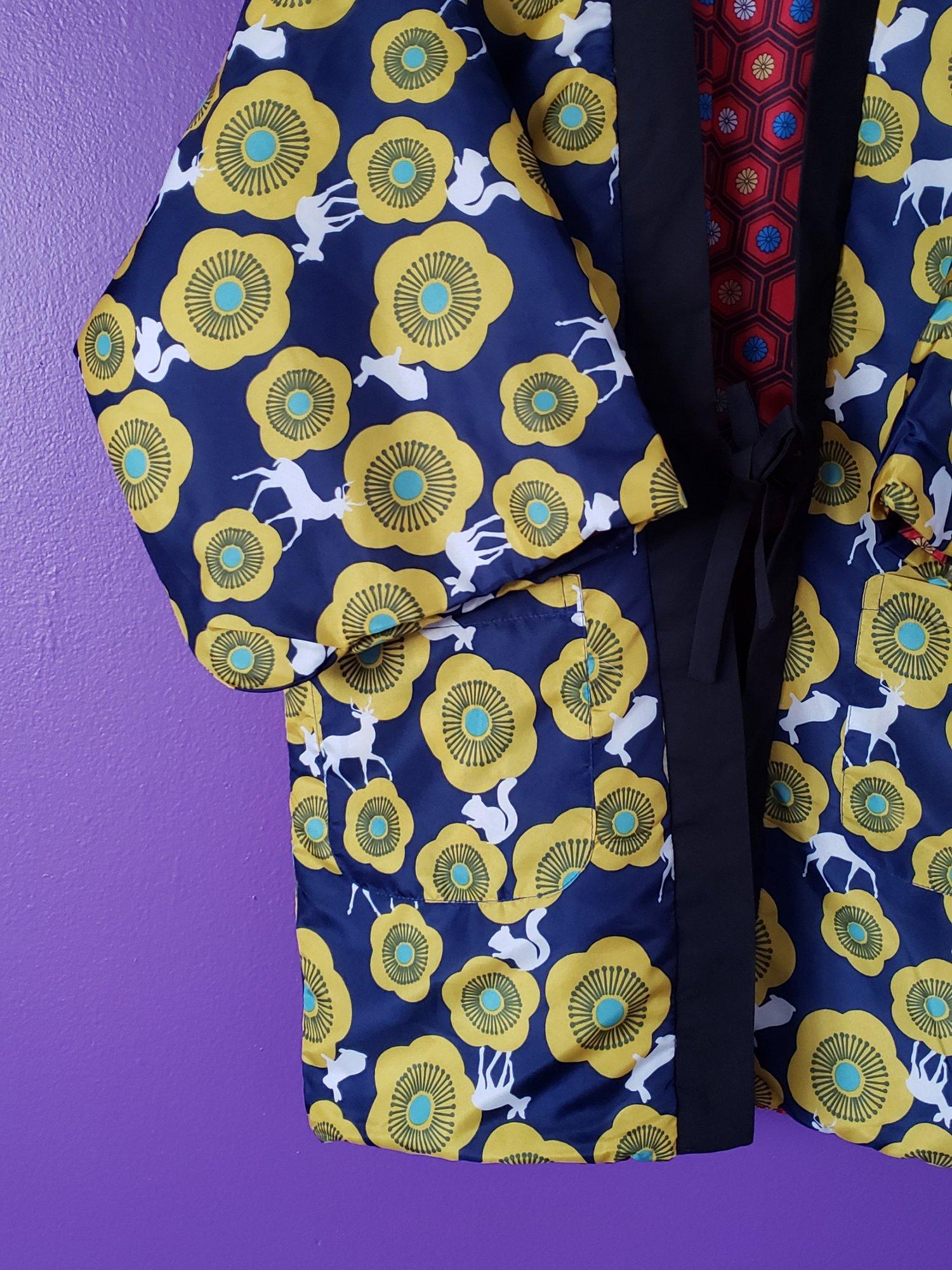 Image of Kumi Short Kimono Reversible Coat