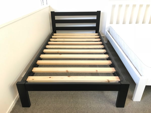 Image of Oliver Bed Frame-Black