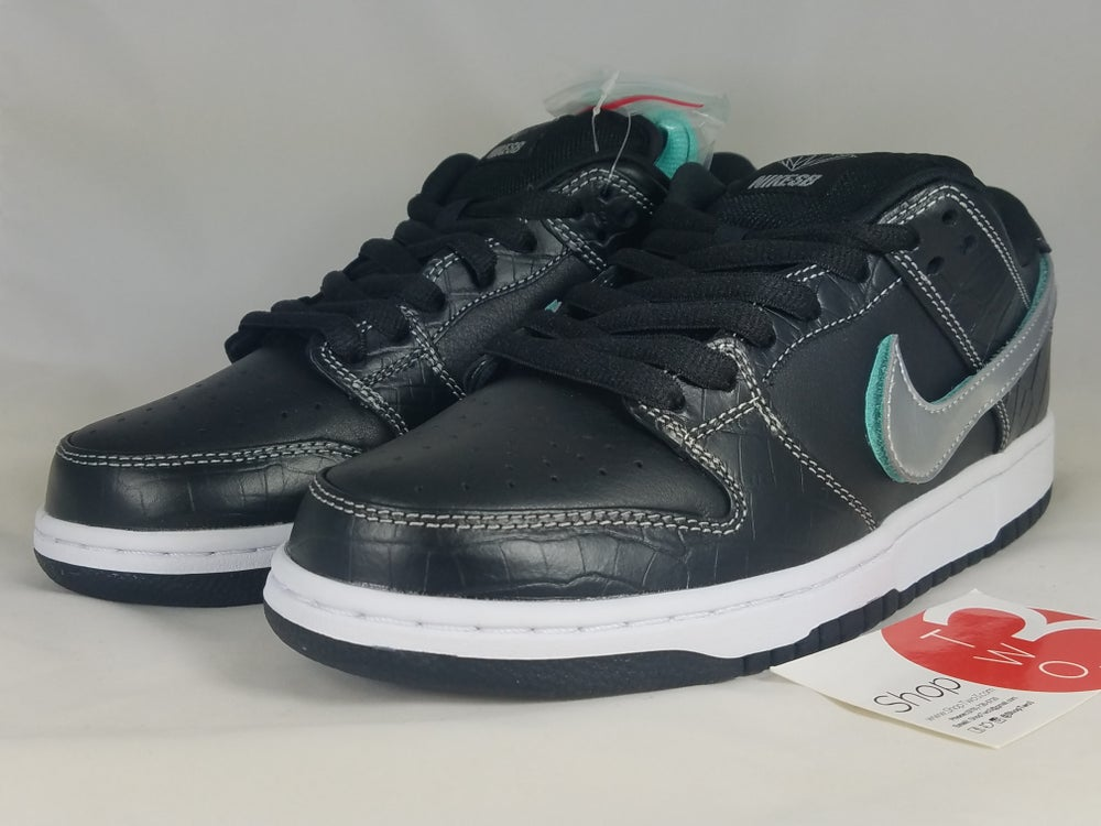 Image of Diamond x Nike SB Low Black