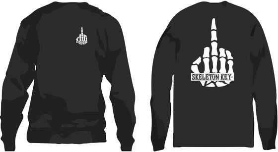 Image of SK Finger Crew Neck Fleece Sweatshirt