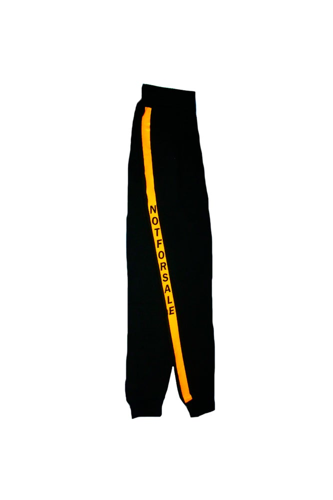 "Image of ""Not For Sale"" w/ Yellow Tape Track Pants"