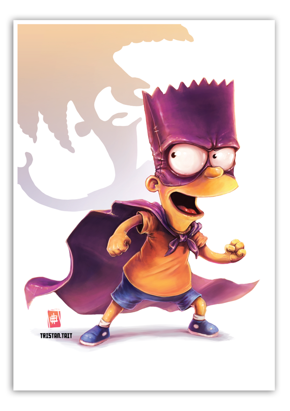 Image of Bartman - A3 Poster Print