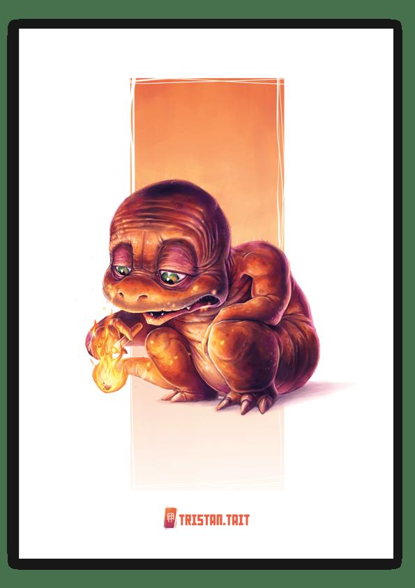 Image of Charmander - A3 Poster Print