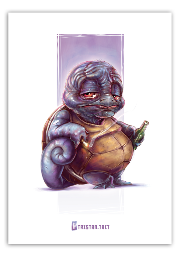 Image of Squirtle - A3 Poster Print