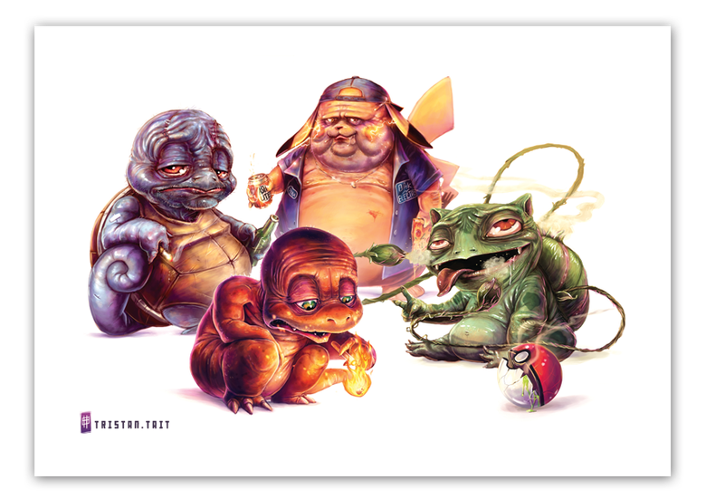 Image of Pokemon Starter Gang  - A3 Poster Print