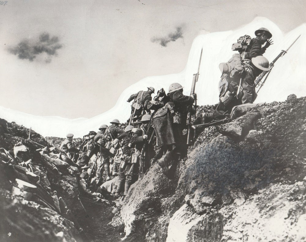 Image of Ivor Castle: 'Going over the top', Somme, Arras ca. 1916
