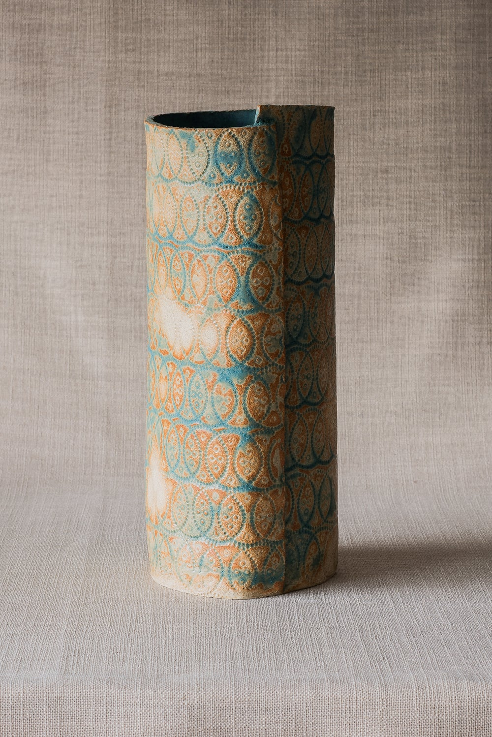 Image of TEXTURE TEAL VASE