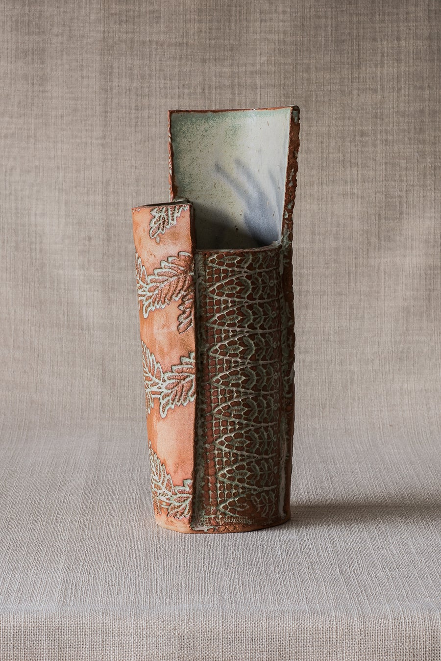 Image of TEXTURE RUSTIC COPPER VASE