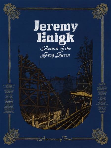 "Image of Jeremy Enigk (June/July 2018 U.S. Tour) • L.E. Official Poster (18"" x 24"")"