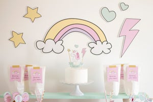 Image of Fondo imprimible Baby Unicorn
