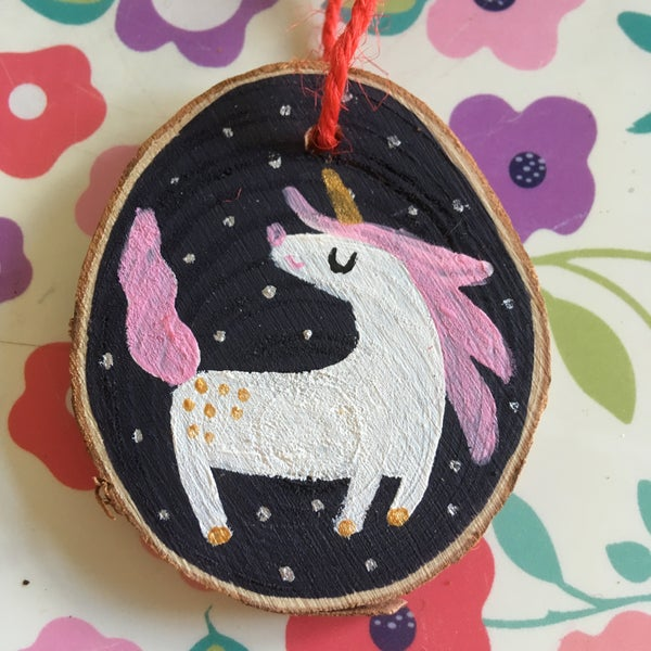 Image of Unicorn Christmas Tree Decoration