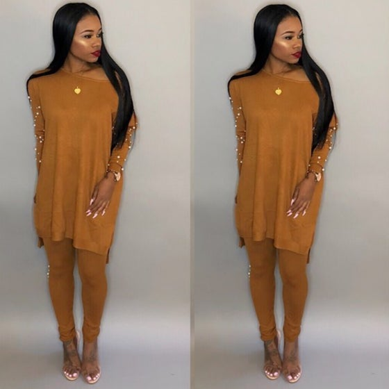 Image of Pearl Accent 2 Piece Set (mustard)