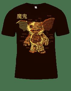 Image of ANATOMY OF THE MOGWAI T-SHIRT!
