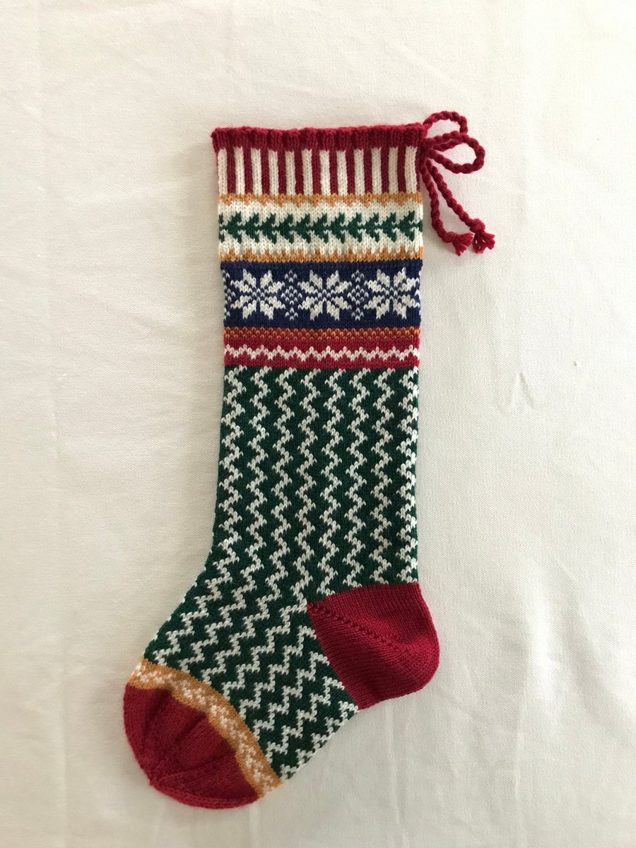 Image of Nordic Star Christmas Stocking
