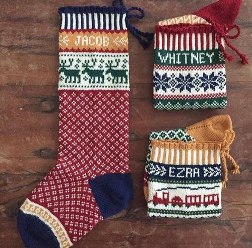 Image of Reindeer Christmas Stocking
