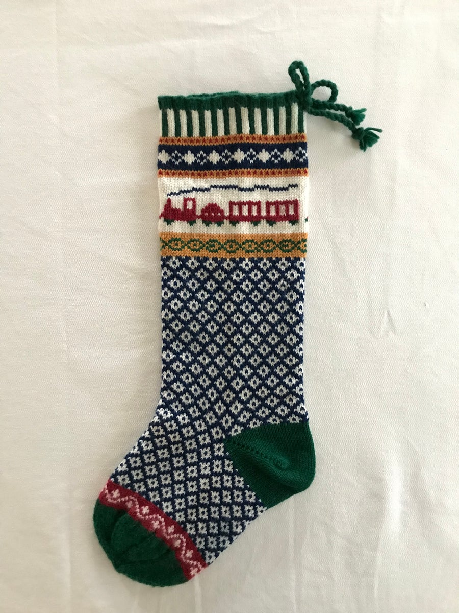 Image of Train Christmas Stocking
