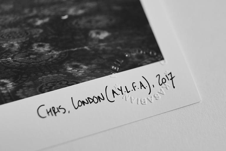 Image of CHRIS, LONDON (AYLFA), 2017