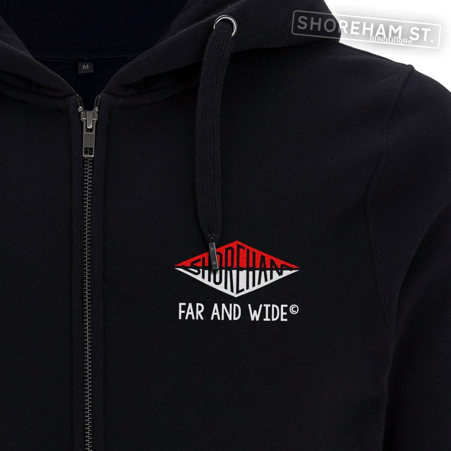 Image of Far & Wide - Split Logo Zip Hoodie