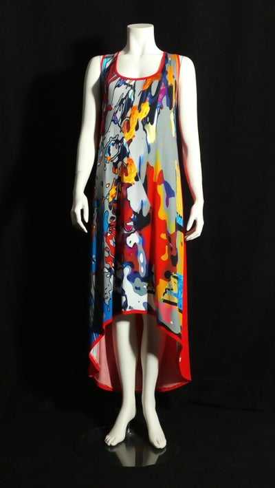Image of The Popcorn T dress (red)