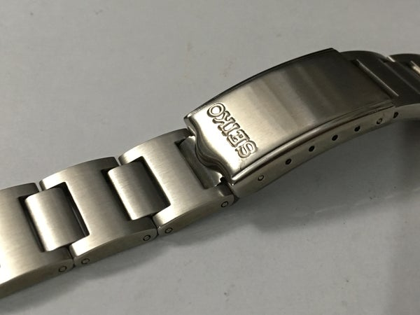 Image of Seiko Solid Links Watch Strap 6139-6002 6000 6001 6005,6032 Pogue,new (pepsi)