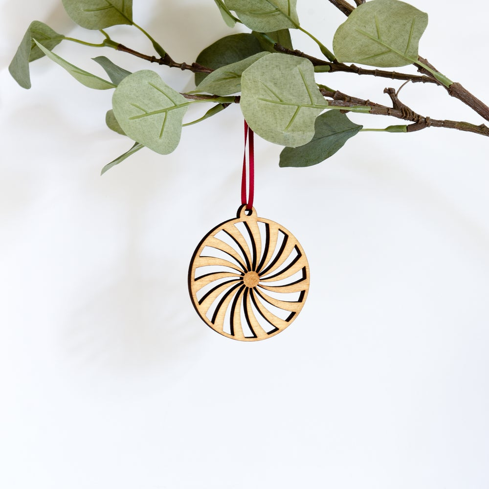 Image of Wooden Christmas Decorations - Spiral