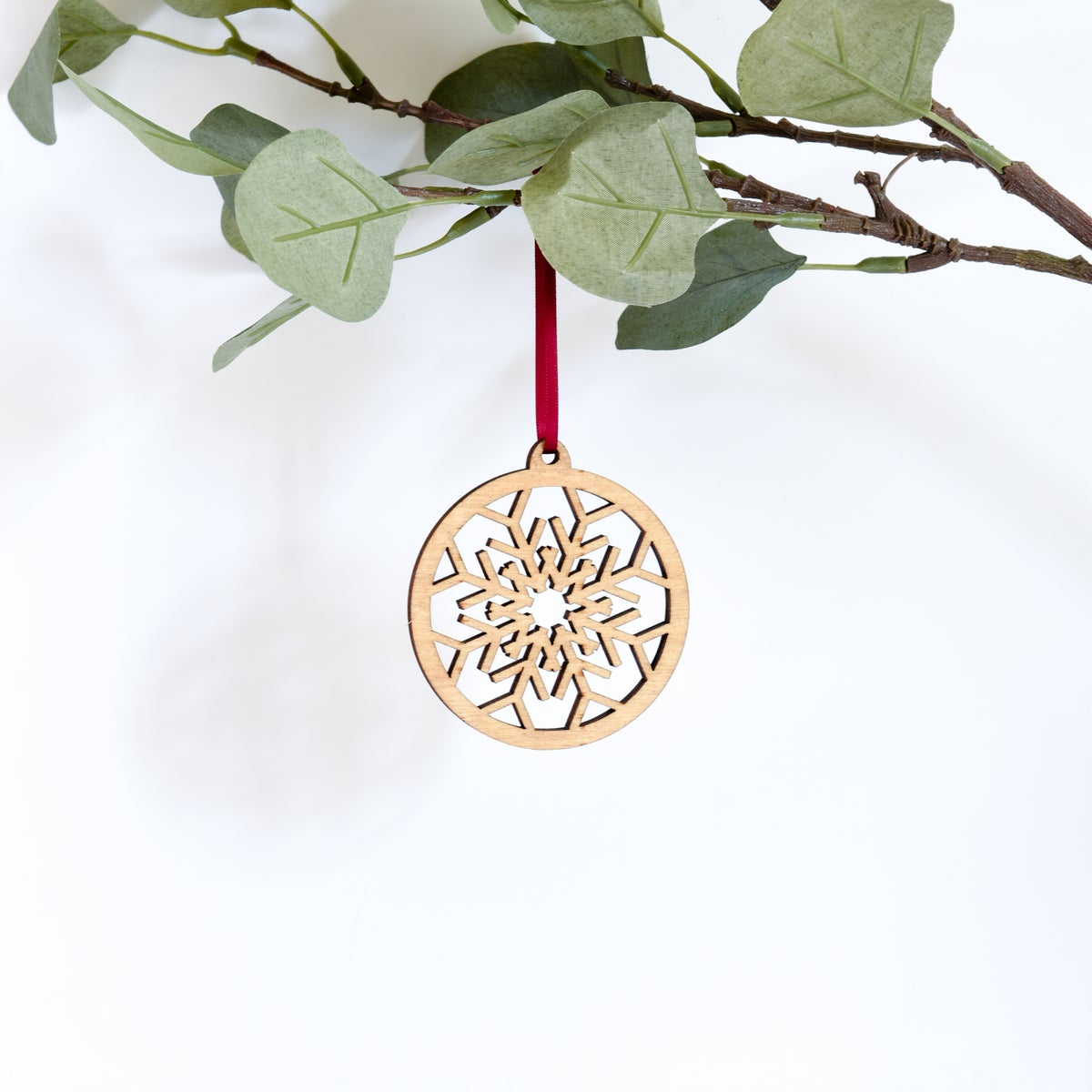Image of Wooden Christmas Decorations - Snowflake