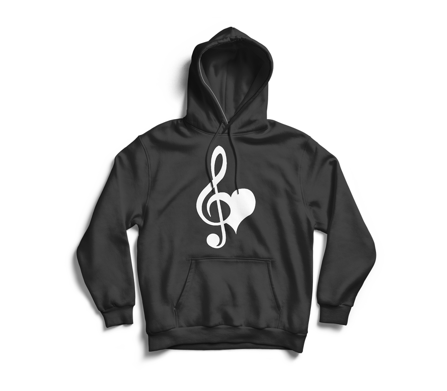 Image of Love & Music Charcoal Grey Hoodie