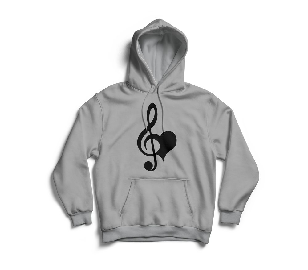 Image of Love & Music Grey Hoodie
