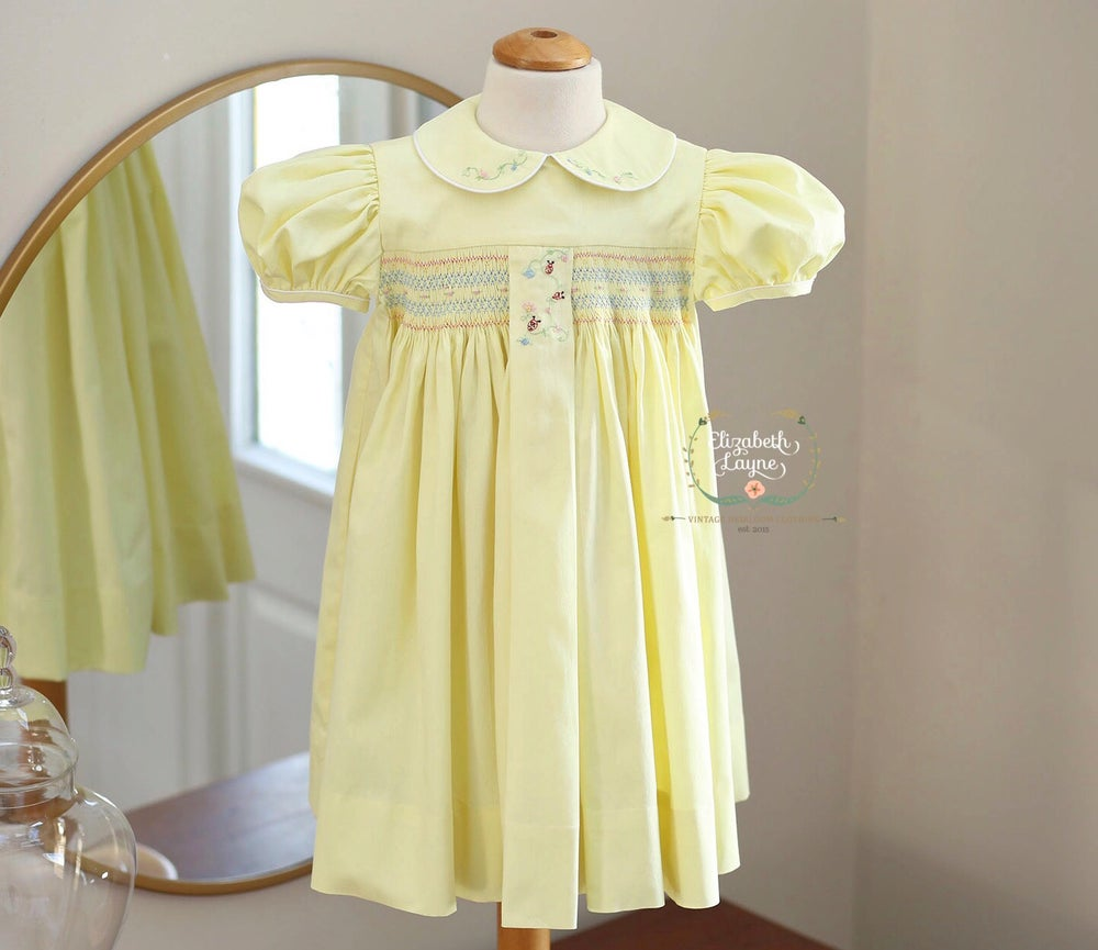 Image of Luck Be A Lady Hand Smocked Dress
