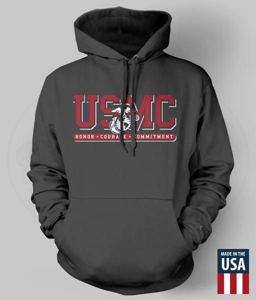 Image of USMC - EGA Honor. Courage. Commitment. Hoodie