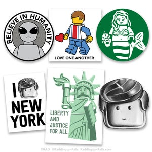 Image of Random Stickers 6 Pack - Free Shipping USA