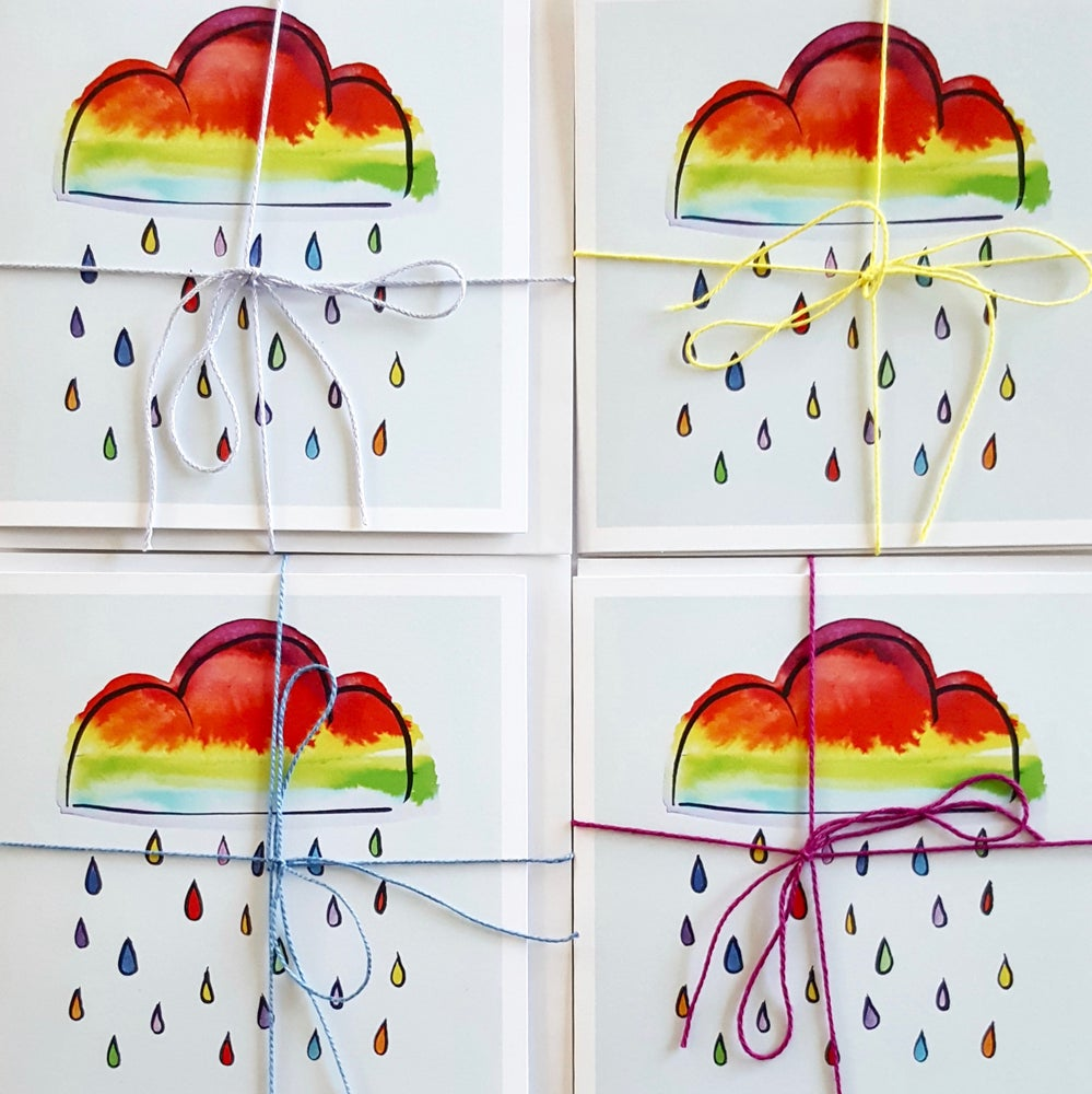 Image of RAINBOW CLOUD GREETING CARD