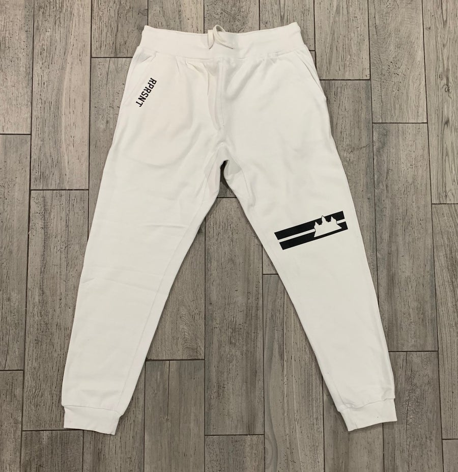 Image of White/Cream Double Striped Jogger