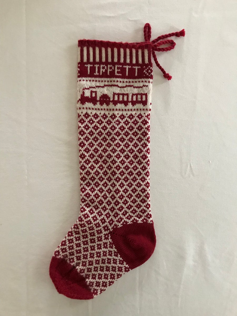 Image of Train Christmas Stocking (two color)