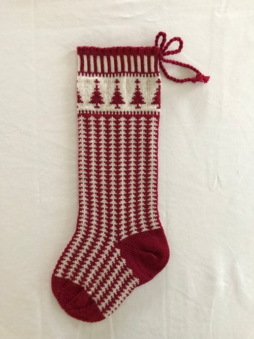 Image of Christmas Tree Stocking (two color)