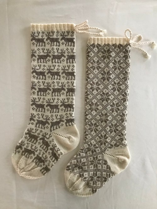 Image of Reindeer Christmas Stocking, all over pattern