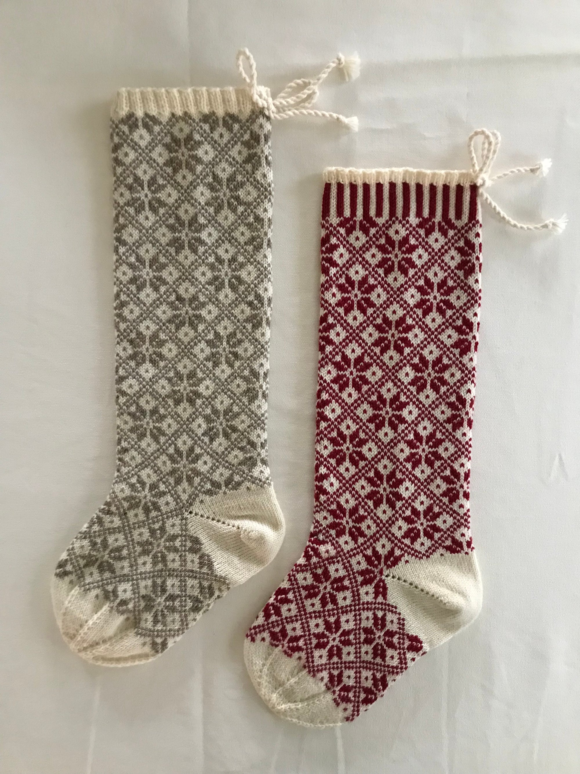 Nordic Star Christmas Stocking, all over pattern | Churchtown Chapeau Co