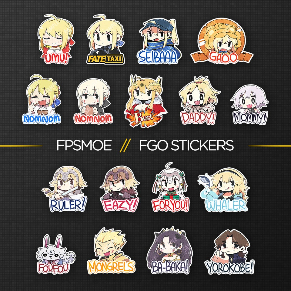 Image of FGO Stickers by Soyatu