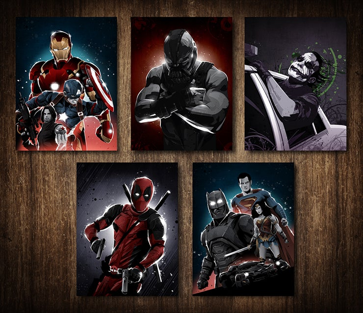 Image of Superhero Postcards