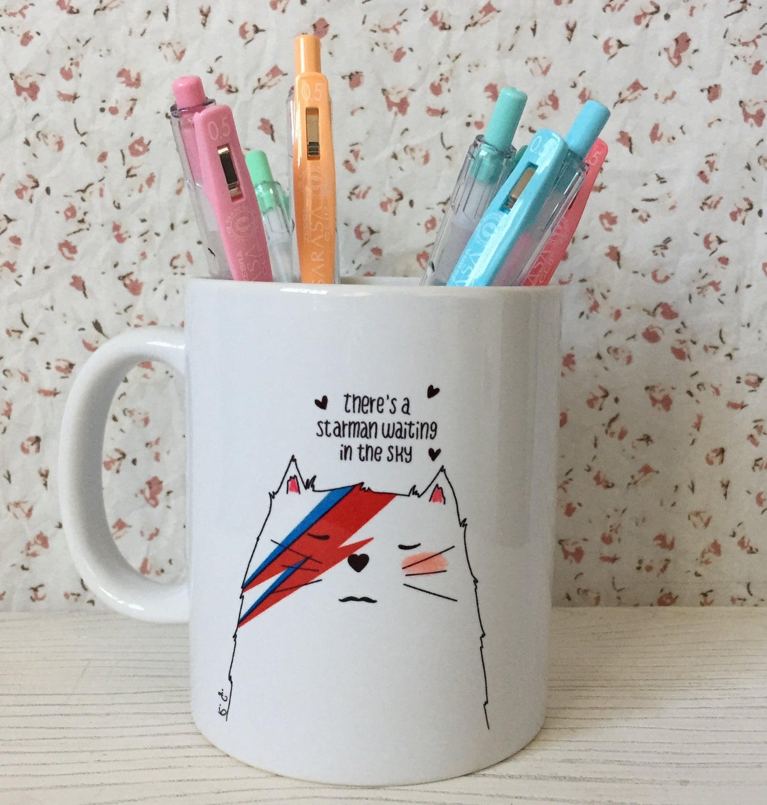"Image of Tazza linea Mad Cat ""Ziggy StarCat"""