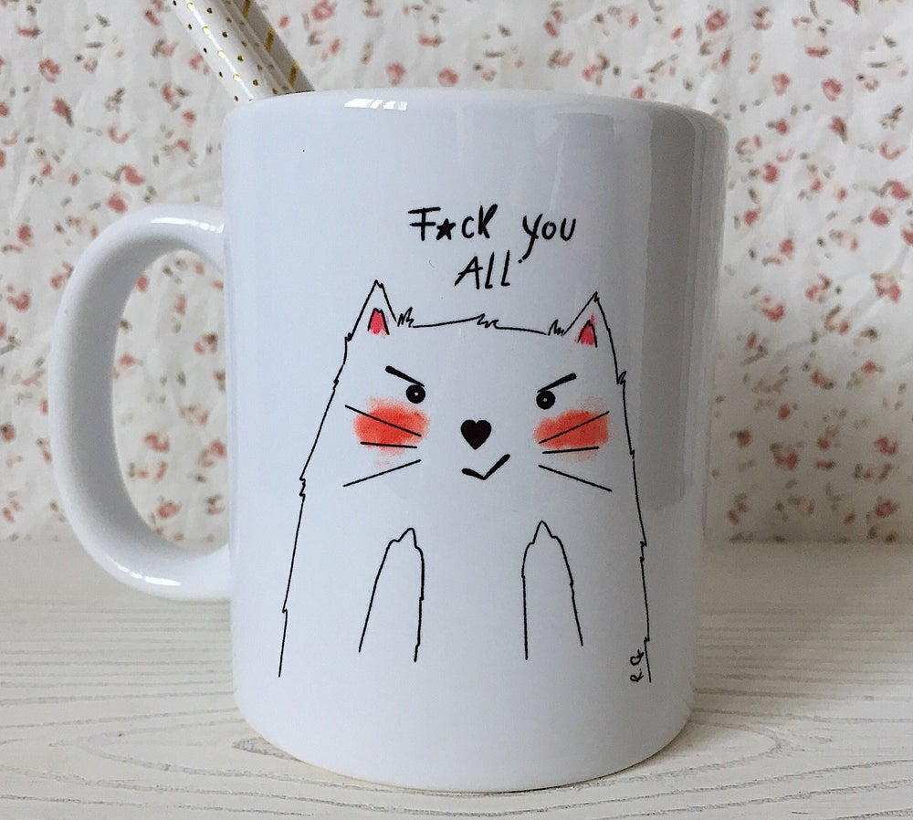 "Image of Tazza linea Mad Cat ""f*ck you all"""