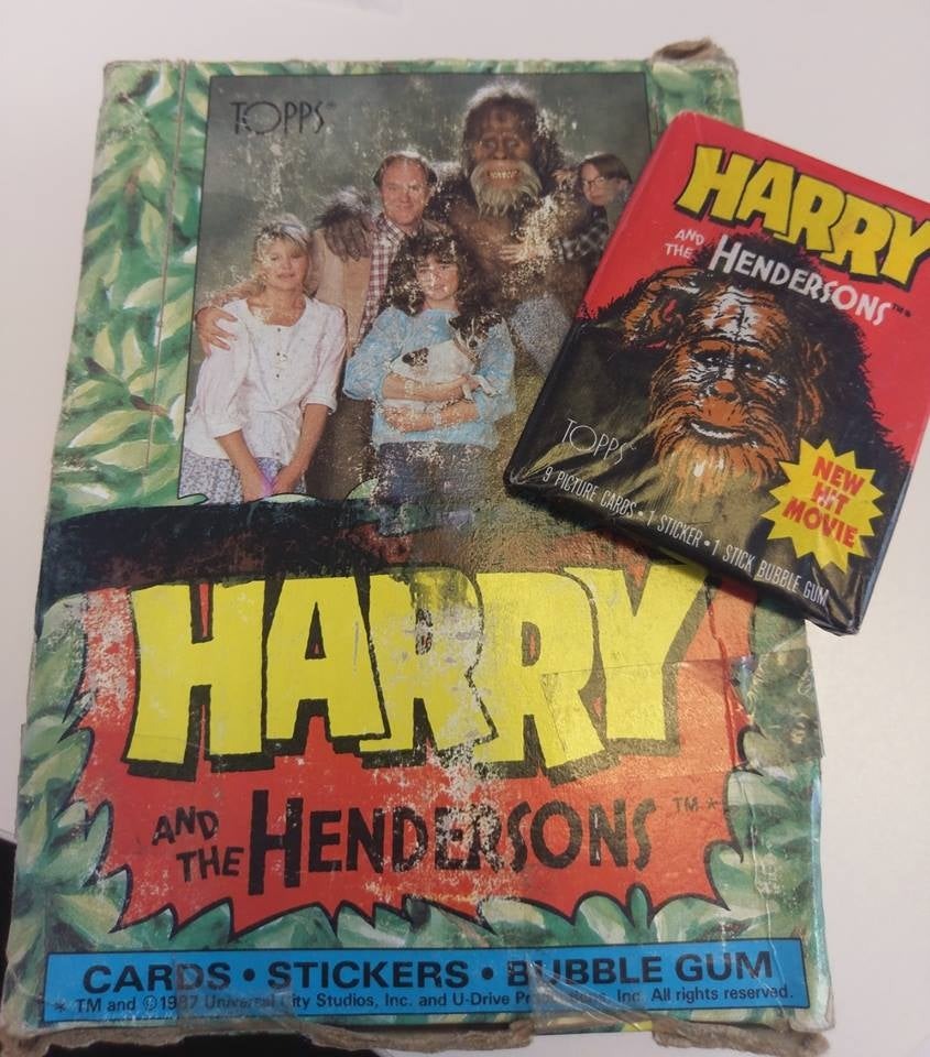 Image of Harry and the Hendersons ORIGINAL Topps trading cards 1987