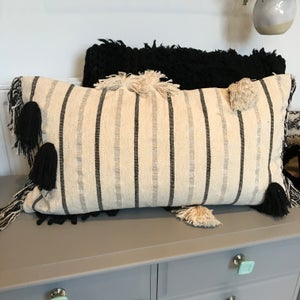 Image of Large boho tassel cushion cover