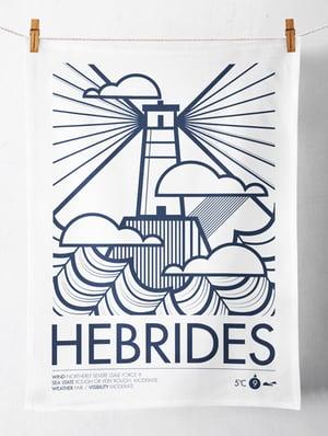 Image of Hebrides / Shipping Forecast Tea Towel