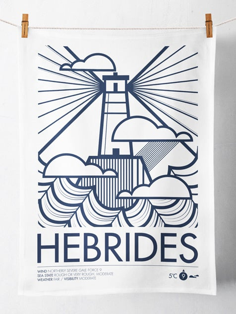 Image of Hebrides / Shipping Forecast Tea Towel