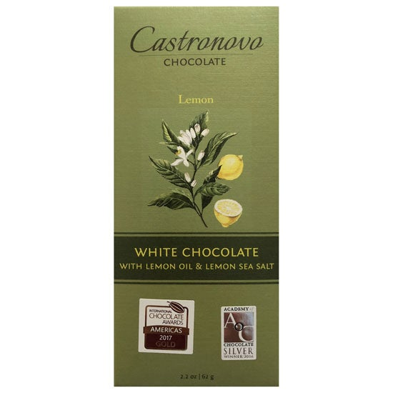 Image of Castronovo Chocolate White Chocolate with Lemon & Lemon Sea Salt