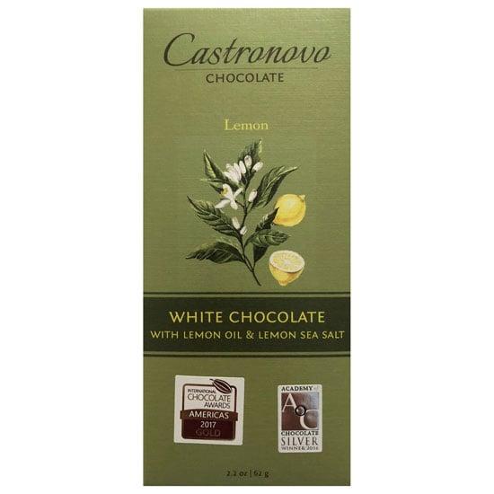 Image of Tablette de chocolat blanc Castronovo au citron et sel de mer