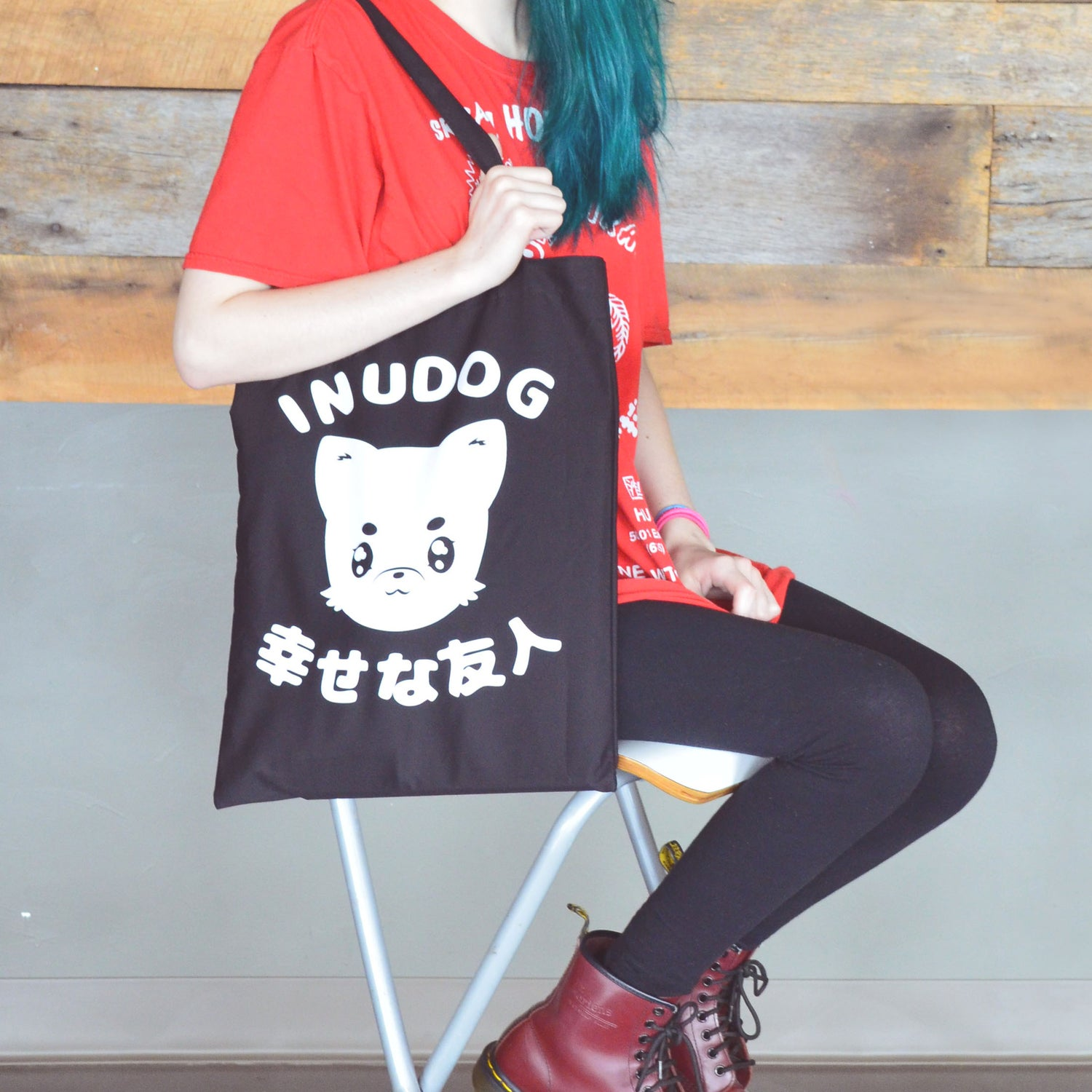 Image of Kawaii Anime Dog Tote Bag
