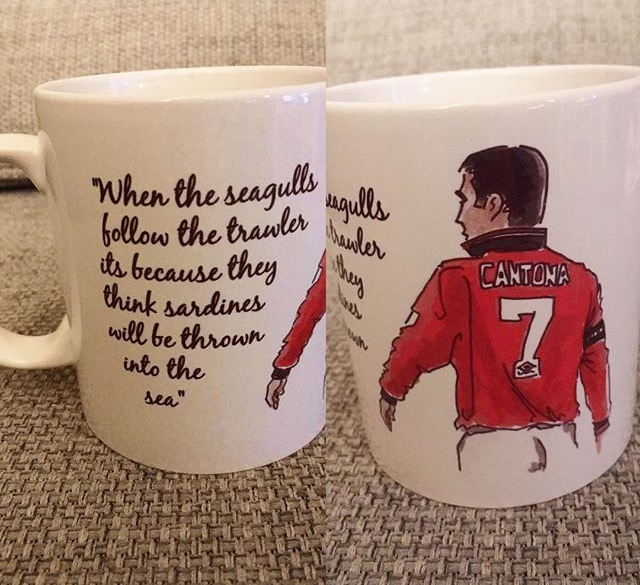 Image of Eric Cantona Seagulls quote mug